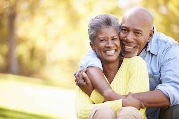 an elder couple smiles | periodontal treatment bonita springs