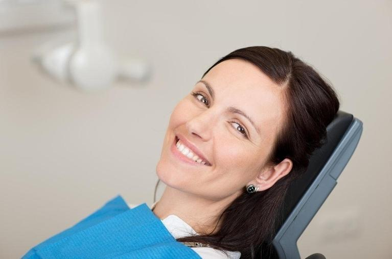 Patient With White Smile | Bonita Springs FL Dentist